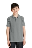 Youth Silk Touch Polo Shirt Cool Grey Thumbnail