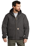 Carhartt Quilted-Flannel-Lined Duck Active Jac Gravel Thumbnail