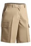 Women's Flat Front Cargo Short Tan Thumbnail
