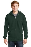 Ultimate Cotton Full-zip Hooded Sweatshirt Deep Forest Thumbnail