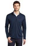 Silk Touch Performance 1/4-Zip Navy with Steel Grey Thumbnail