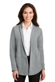 Women's Interlock Cardigan Medium Heather Grey with Charcoal Heather Thumbnail