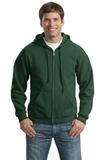 Full-zip Hooded Sweatshirt Forest Green Thumbnail