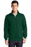 1/4-zip Sweatshirt Forest Green Thumbnail