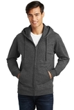 Port & Company Fan Favorite Fleece Full-Zip Hooded Sweatshirt Dark Heather Grey Thumbnail