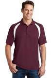Dry Zone Colorblock Raglan Polo Shirt Maroon with White Thumbnail