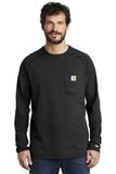 Carhartt Force Cotton Delmont Long Sleeve T-Shirt Black Thumbnail