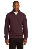 1/4-zip Sweatshirt Maroon Thumbnail