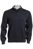87 Cotton/13 Nylon Pull Over Sweater Navy Thumbnail