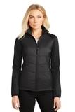 Women's Hybrid Soft Shell Jacket Deep Black Thumbnail