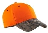 Safety Cap With Camo Brim Orange Blaze with Mossy Oak Thumbnail