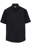 Men's Easy Care Poplin Shirt SS Black Thumbnail