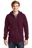 Ultimate Cotton Full-zip Hooded Sweatshirt Maroon Thumbnail