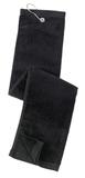 Grommeted Tri-fold Golf Towel Black Thumbnail