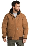 Carhartt Tall Quilted-Flannel-Lined Duck Active Jac Carhartt Brown Thumbnail