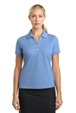 Women's Nike Golf Shirt Dri-fit Classic Light Blue Thumbnail
