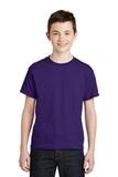 Youth Ultra Blend 50/50 Cotton / Poly T-shirt Purple Thumbnail
