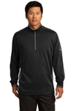 Nike Golf Dri-Fit 1/2-Zip Cover-up Black with Dark Grey and White Thumbnail
