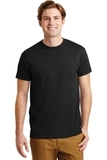 Ultra Blend 50/50 Cotton / Poly T-shirt With Pocket Black Thumbnail