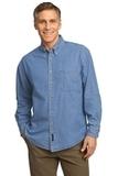 Long Sleeve Value Denim Shirt Faded Blue Thumbnail