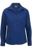 Women's Easy Care Poplin Shirt LS Royal Thumbnail