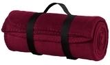 Value Fleece Blanket With Strap Maroon Thumbnail