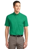 Short Sleeve Easy Care Shirt Court Green Thumbnail