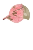 Unstructured Camouflage Mesh Back Cap Realtree Xtra Pink with Tan Thumbnail