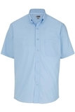 Men's Easy Care Poplin Shirt SS Blue Thumbnail