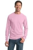 Moisture Management 50/50 Cotton / Poly Long Sleeve T-shirt Classic Pink Thumbnail