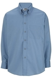 Men's Button Down Poplin Shirt LS Denim Blue Thumbnail
