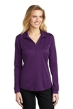 Women's Silk Touch Performance Long Sleeve Polo Bright Purple Thumbnail