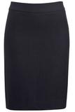 Women's Washable Suit Straight Skirt Navy Thumbnail