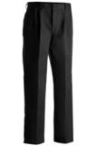 Men's Pleated Uniform Pant Black Thumbnail