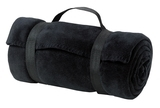 Value Fleece Blanket With Strap Black Thumbnail