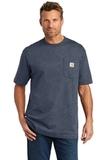 Carhartt Tall Workwear Pocket Short Sleeve T-Shirt Dark Cobalt Blue Heather Thumbnail