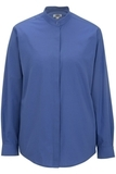 Women's Banded Collar Shirt French Blue Thumbnail
