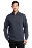 Slub Fleece 1/4-zip Pullover Slate Grey Thumbnail