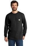 Carhartt Workwear Pocket Long Sleeve T-Shirt Black Thumbnail
