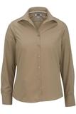Women's Easy Care Poplin Shirt LS Tan Thumbnail