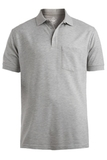 Unisx 65/35 Pkt Polo Grey Heather Thumbnail