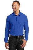 Long Sleeve Core Classic Pique Polo True Royal Thumbnail