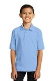 Port Company Youth 5.5-ounce Jersey Knit Polo Light Blue Thumbnail