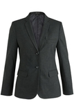 Redwood & Ross Signature Ladies Single Breasted Poly/wool Suit Coat Charcoal Thumbnail