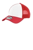 Era Snapback Contrast Front Mesh Cap White with Scarlet Red Thumbnail