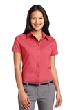 Women's Short Sleeve Easy Care Shirt Hibiscus Thumbnail