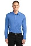Silk Touch Performance Long Sleeve Polo Carolina Blue Thumbnail