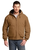 Washed Duck Cloth Insulated Hooded Work Jacket Duck Brown Thumbnail
