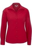 Women's Easy Care Poplin Shirt LS Red Thumbnail