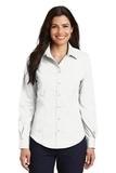 Women's Long Sleeve Non-iron Twill Shirt White Thumbnail